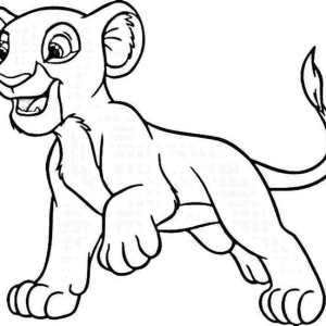 Simba Want To Play Coloring Page