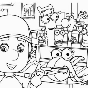 Squeeze And Manny   Handy Manny Coloring Page