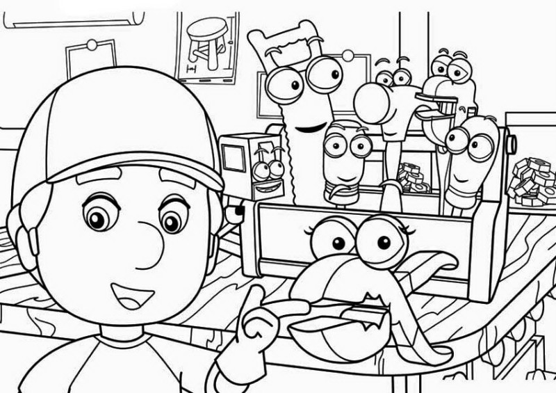 Squeeze And Manny Handy Manny Coloring Page Download Print - Handy-manny-coloring-page