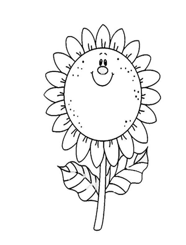 Sunflower Coloring Page For Kids - Download & Print Online ...