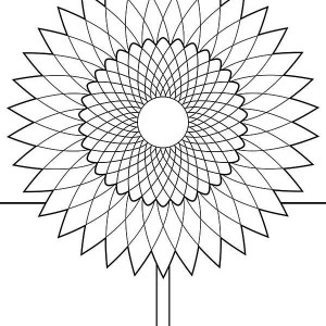 Sunflower Drawing Coloring Page