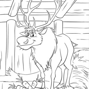 Sven At His Barn Coloring Page