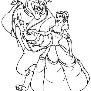 The Beast Invite Belle To Dance Coloring Page