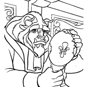 The Best Look Over His Face In The Mirror Sadly Coloring Page