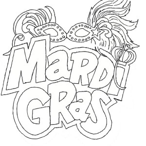 The Carnival Season Of Mardi Gras Coloring Page