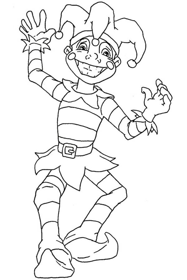 The Favorite Jester Figure On Mardi Gras Coloring Page