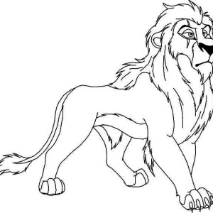 The Lion King Awesome Scar Coloring Page