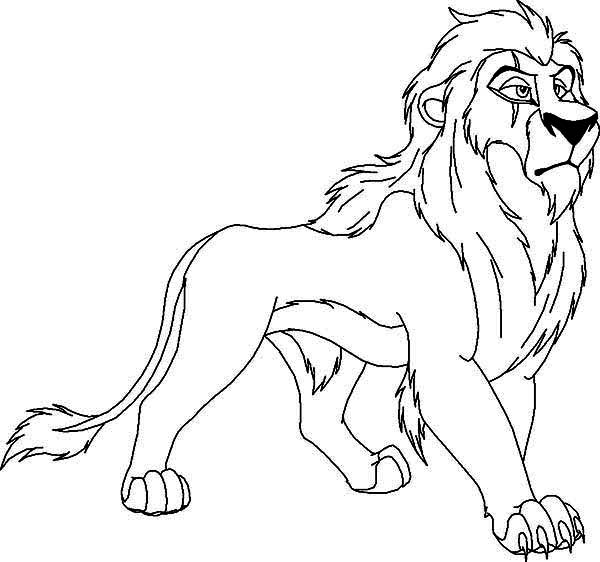The Lion King Awesome Scar Coloring Page Download Print Online
