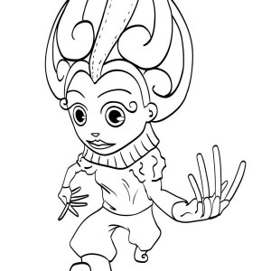 This Little Kid Wearing Costume For The Mardi Gras Coloring Page