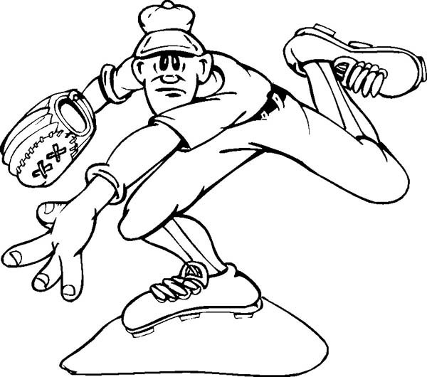 Throwing A Baseball Coloring Page Download Print Online