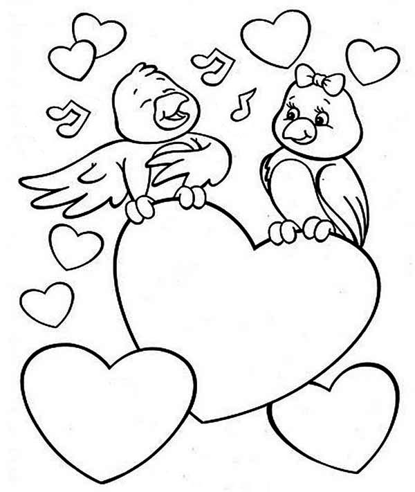 Images of Chicken Valentines Day Printable Coloring Pages ...