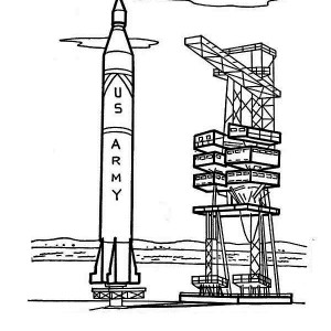 US ARMY Rocket Ship Ready To Launch Coloring Page