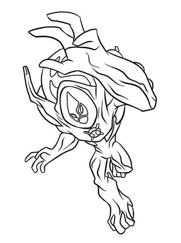 Ultimate Swampfire from Ben 10 Ultimate Alien Coloring Page ...