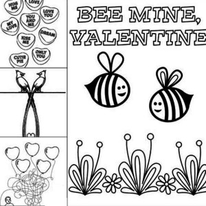 Valentine's Day Playing Sheet Coloring Page