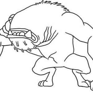 Wildmutt In Defensive Position Coloring Page