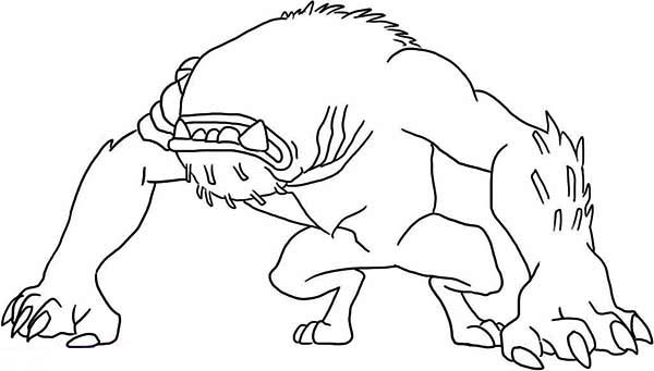 Wildmutt In Defensive Position Coloring Page Download Print Rhcolornimbus: Ben 10 Wildmutt Coloring Pages At Baymontmadison.com