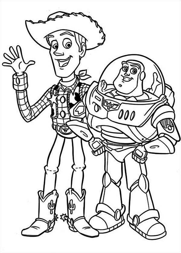 buzz bunny christmas coloring pages | Woddy And Buzz Are The Best Partner Coloring Page ...