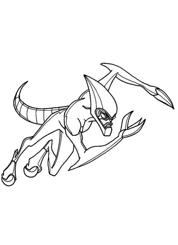 XLR8 From Ben 10 Omniverse Coloring Page Download Print Online Coloring Pages for Free