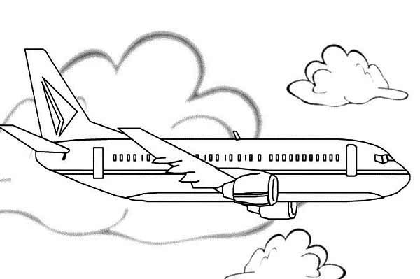southwest airplane coloring pages - photo#18