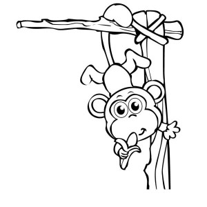 Baby Monkey Circus Coloring Page