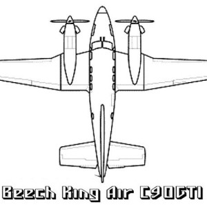 Beech King Air Airplane Coloring Page