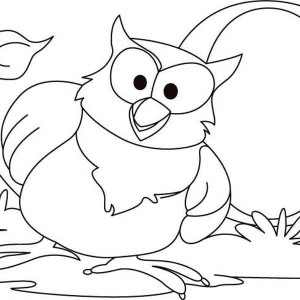 Big Owl Coloring Page