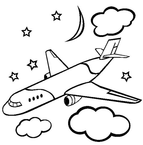 Cargo Airline Plane Coloring Page Download Print