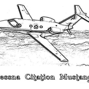 Cessna Citation Mustang Airplane Coloring Page