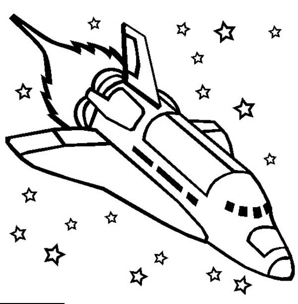 Challenger Space Shuttle Rocket Ship Coloring Page Download