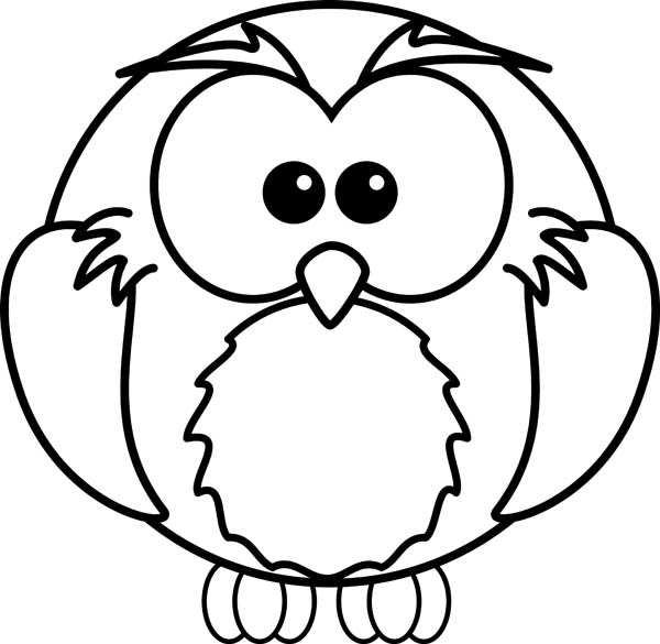 Draw An Owl And Coloring For Kids Coloring Page - Download ...