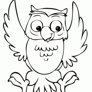 Funny Owl Coloring Page