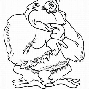 Gorilla Monkey Coloring Page