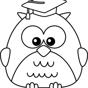 graduate owl coloring page