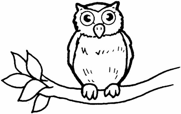 Great Horned Owl For Kids Coloring Page - Download & Print ...