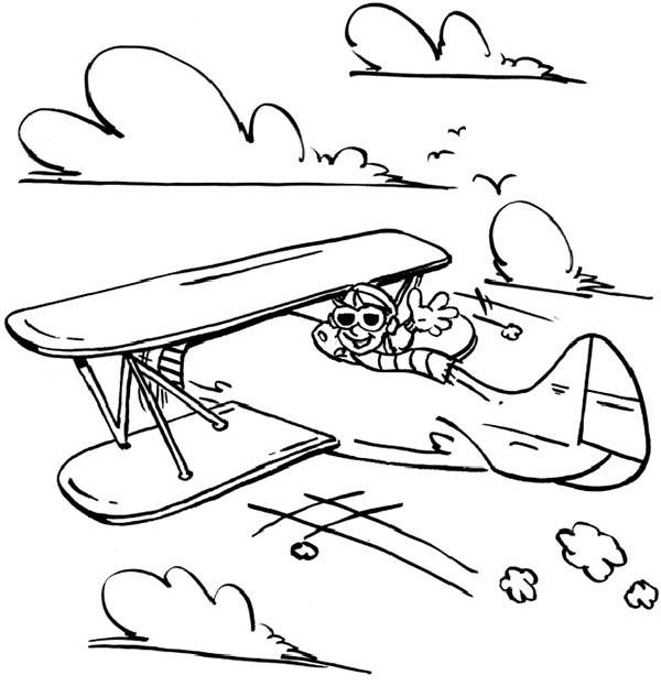Airplane Pictures To Color