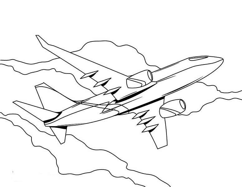 free jet plane coloring pages - photo#45
