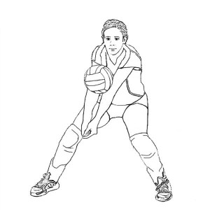 How To Passing Volleyball Coloring Page