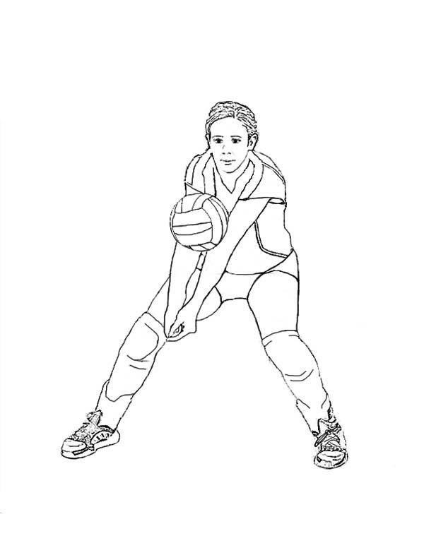 How To Passing Volleyball Coloring