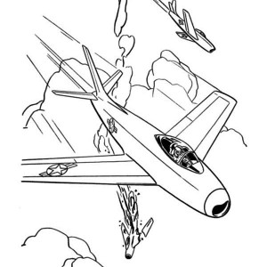 Jet Fighter Airplane Coloring Page