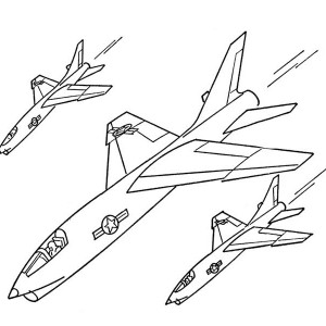 Jet Fighters Formation Coloring Page