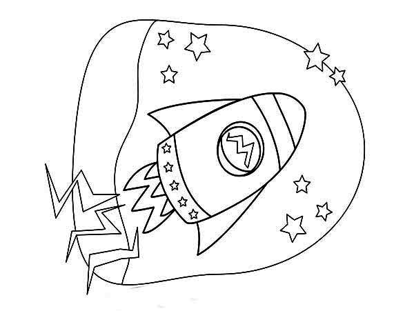 kids rocket ship drawing coloring page download amp print