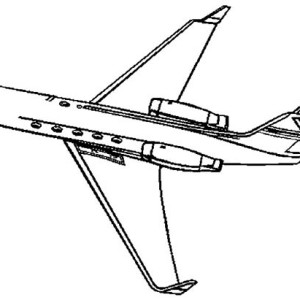 Learjet Private Jet Coloring Page