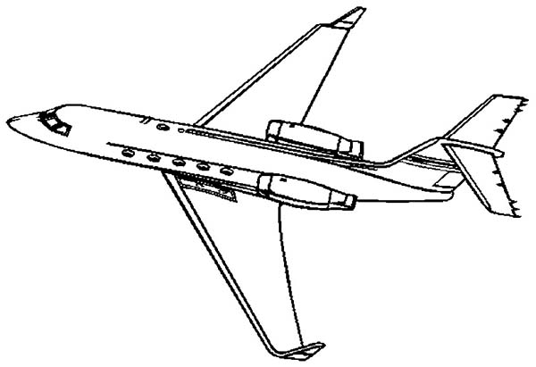 Learjet Private Jet Coloring Page - Download & Print ...