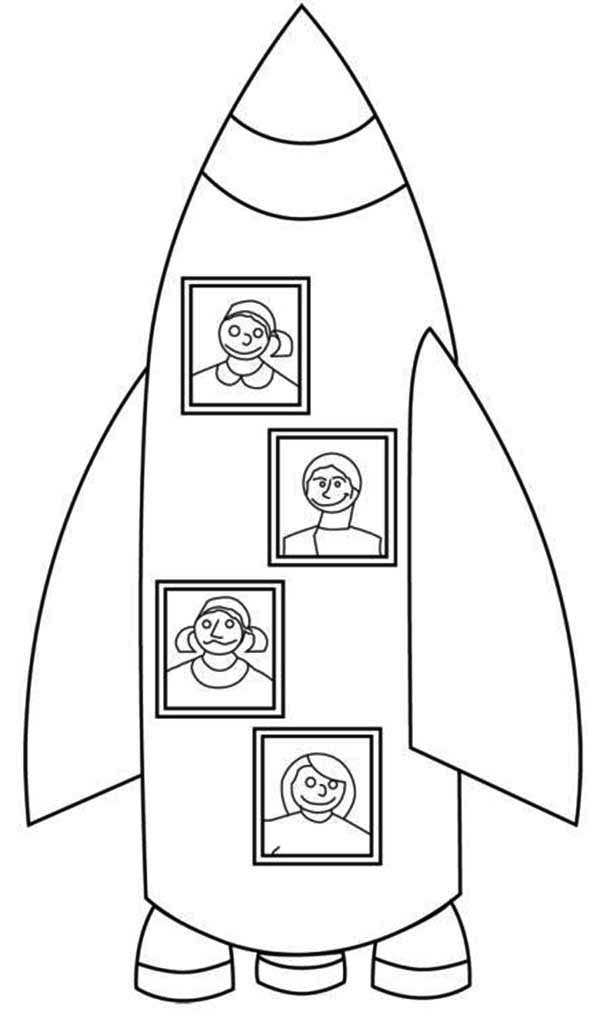 My Family Rocket Ship Vacation Coloring Page Download Print Online Coloring Pages For Free Color Nimbus