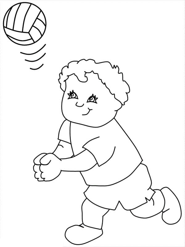 My Friend Play Volleyball Coloring Page Download Print Online Coloring Pages For Free Color Nimbus
