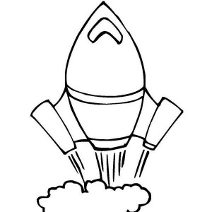 my rocket is         and       coloring page