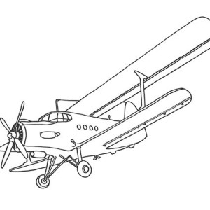 Old Passenger Airplane Coloring Page