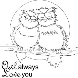 Owl Always Love You Coloring For Kids Coloring Page