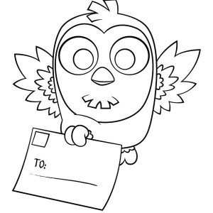 Owl Deliver A Letter For You Coloring Page
