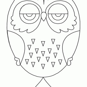 Owl Mandala For Kids Coloring Page